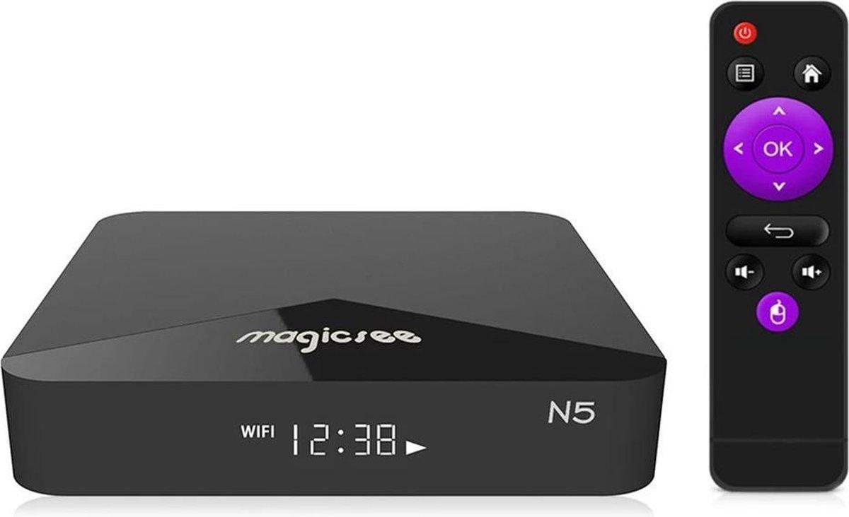 DrPhone N5 – Android 9.0 – Tv Box Voor Series, Films en Spellen – Maakt TV Slim –  Amlogic S905X Quad-Core – 4K Resolutie – 2 GB Ram – 16 Gb Ram –  2.4G –  5G WiFi – Zwart