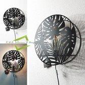 Wandlamp Jungle metaal D 39  cm zwart