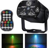 Party Laser Feestlamp - Stroboscoop - Met Afstandsbediening - Lichteffect - Projector Groen Rood LED - Discolamp - Discoverlichting -  Sterrenhemel - Laser Op Geluid - Feestverlichting Voor Dakterras - Discolaser