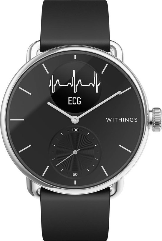 Withings Scanwatch Hybrid Smartwatch - 38 mm -Zwart