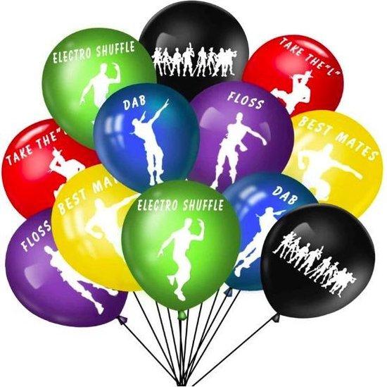 ProductGoods - 10x Fortnite Ballonnen Verjaardag - Verjaardag Kinderen - Ballonnen - Ballonnen Verjaardag - Fortnite - Kinderfeestje