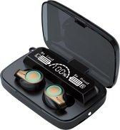 TWS - Draadloze oortjes / in-ear oordopjes - Bluetooth Draadloze buds - Luxe indicator - Geschikt voor alle smartphones o.a Samsung & Iphone, , galaxy buds, huawei, sony - Zwart.- AANBIEDING!