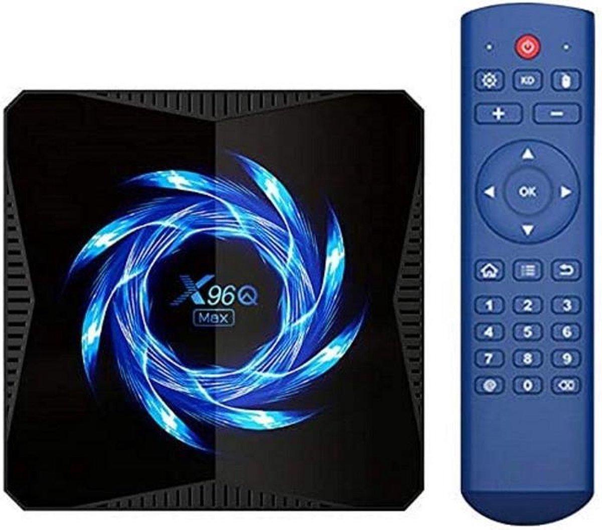 TECHPUNT X96Q Max 64GB – 2.4G 5g Dual WiFi Bluetooth 4K Media Player Android TV Box