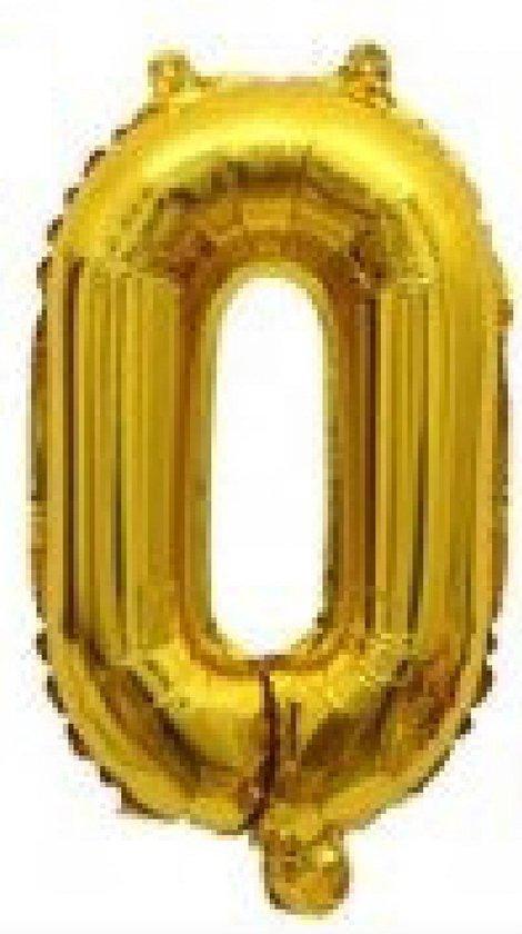 Folieballon / Letterballon Goud  - Letter O - 41cm