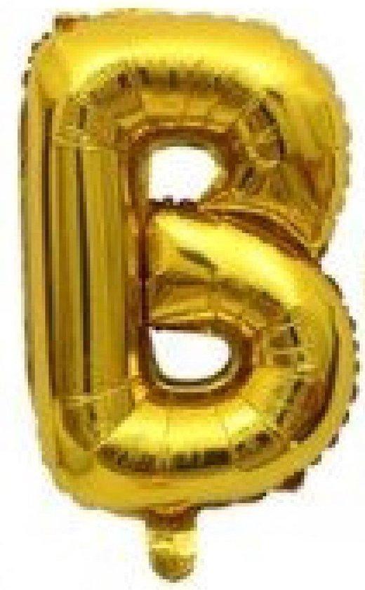 Folieballon / Letterballon Goud  - Letter B - 41cm