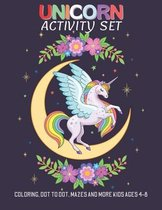 Unicorn activity set: A Fun Kid Workbook For Learning alphabet coloring, Coloring, Dot To Dot, Mazes and More kids ages 4-8 - Unicorn activi