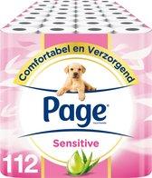 Page toiletpapier - Sensitive wc papier - voordeelverpakking - 112 rollen