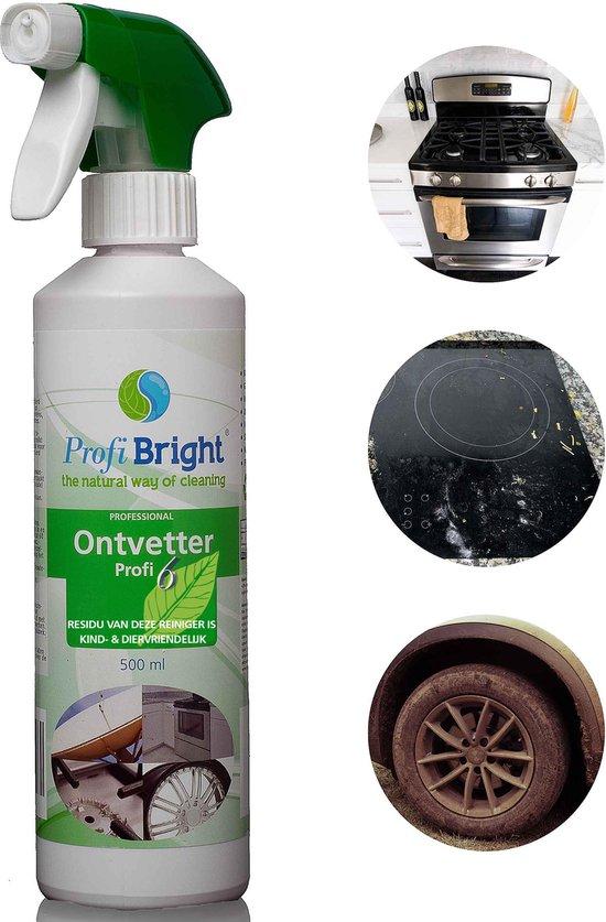 ProfiBright Consument - Ontvetter Profi6 - Roetverwijderaar - Vervanger ammoniak - RVS reiniger - Dierproefvrij - 500 ml