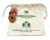 Jean's goods Cederhouten anti-mot ringen - 15 Garderobe ringen - Mottenballen - Motten bestrijden - Natuurlijk bestrijdingsmiddel - 100% Cederhout tegen motten - 15 stuks