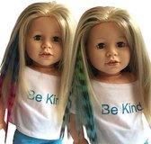 Doll Hair Clip Extensions - Haar Extension voor 46cm Pop
