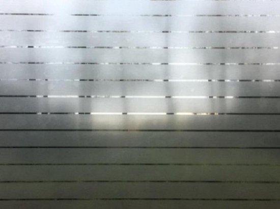 Statische Raamfolie - Vensterfolie - Hoogwaardig - Met Relief - Strepen - 90cm x 150cm