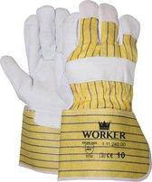 Majestic nerflederen werkhandschoenen type worker 11124000 chauffeurshandschoen - professionele kwaliteit - maat XL/10