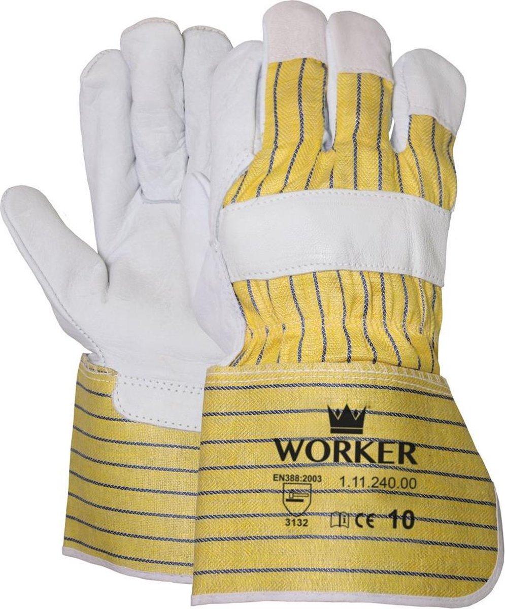 Majestic nerflederen werkhandschoenen type worker 11124000 chauffeurshandschoen - professionele kwal