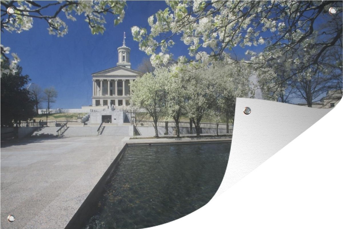 Tuinposter Architectuur - Nashville - Fontein - 120x80 cm - Tuin
