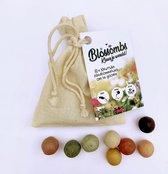 Blossombs Biologisch katoenen cadeauzakje (met 8 zaadbommetjes)