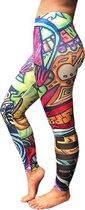 jtb-store - high waist sport legging yogalegging dames Monster- fantasy print - maat XXL