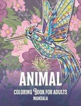 Mandala Coloring Book for Adults - Animal