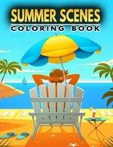 Summer Scenes Coloring Book