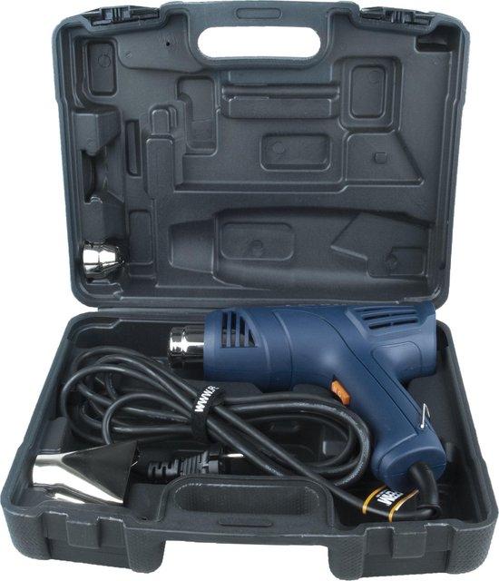 FERM HAM1015 - Heteluchtpistool/ Verfbrander 2000W - 2 temperatuurstanden – Incl. 2 opzetstukken en  koffer