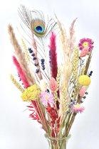 Droogbloemen - Happiness - Brievenbus DIY Boeket 30 cm - Natuurlijk Bloemen®