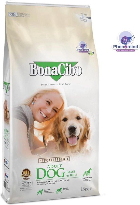 Bonacibo Dog Lam & Rijst - Hypoallergeen Hondenvoer - 15 kg