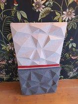 Akoestisch paneel | 3D absorptie wand | Licht Grijs | 50 x 50 cm | polyester akoestische panelen