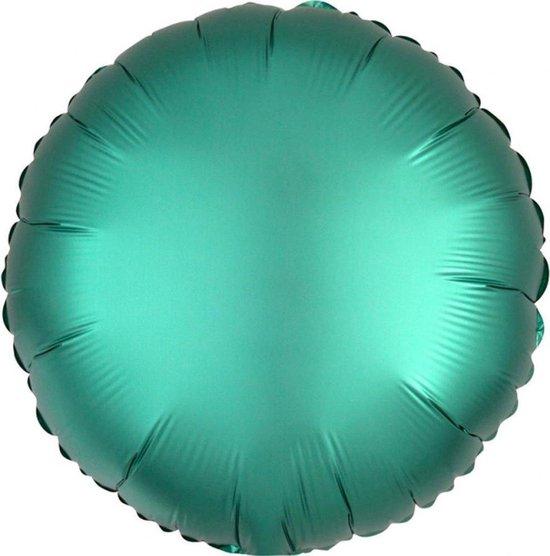 Folieballon turquoise, 40cm kindercrea