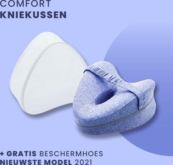 Comfort Kniekussen voor in Bed - Beenkussen - Gratis Beschermhoes - Orthopedische Zijslaapkussen - Zijslaper - Schootkussen - Ergonomisch