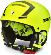 Briko Faito Ski helmet Y016 YELLOW FL-BLACK - Maat XL
