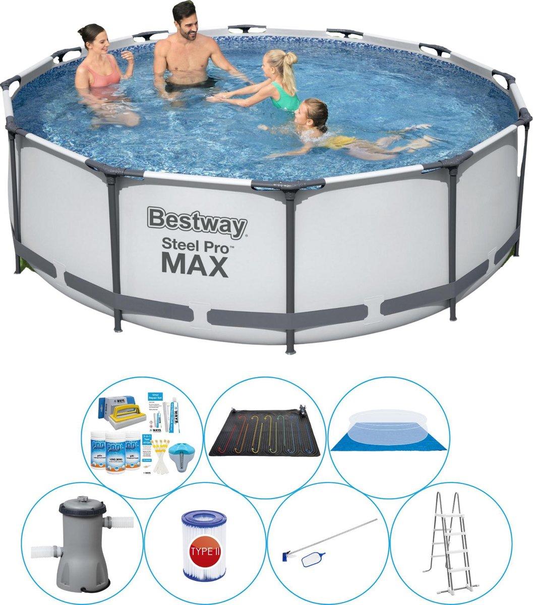 Bestway Steel Pro MAX Rond 366x100 cm - 8-delig - Zwembad Met Accessoires