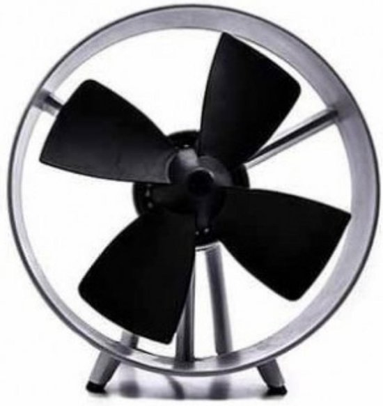 Dupi - Vloerventilator - Zwart - Super Stil - Klein - Rubberen Waaier - 25W - ventilator - verkoeling