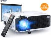 Mini Beamer 1080P Full HD met Surround sound Speakers - 4000 Lumen - Mini Statief - Compact en draagbare LED projector -  Ideaal voor Netflix en Videoland