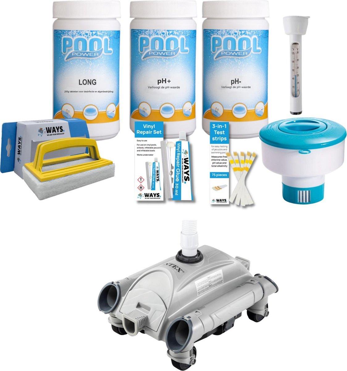 WAYS - Zwembad Onderhoud - Onderhoudspakket Large & Automatische Zwembad Stofzuiger