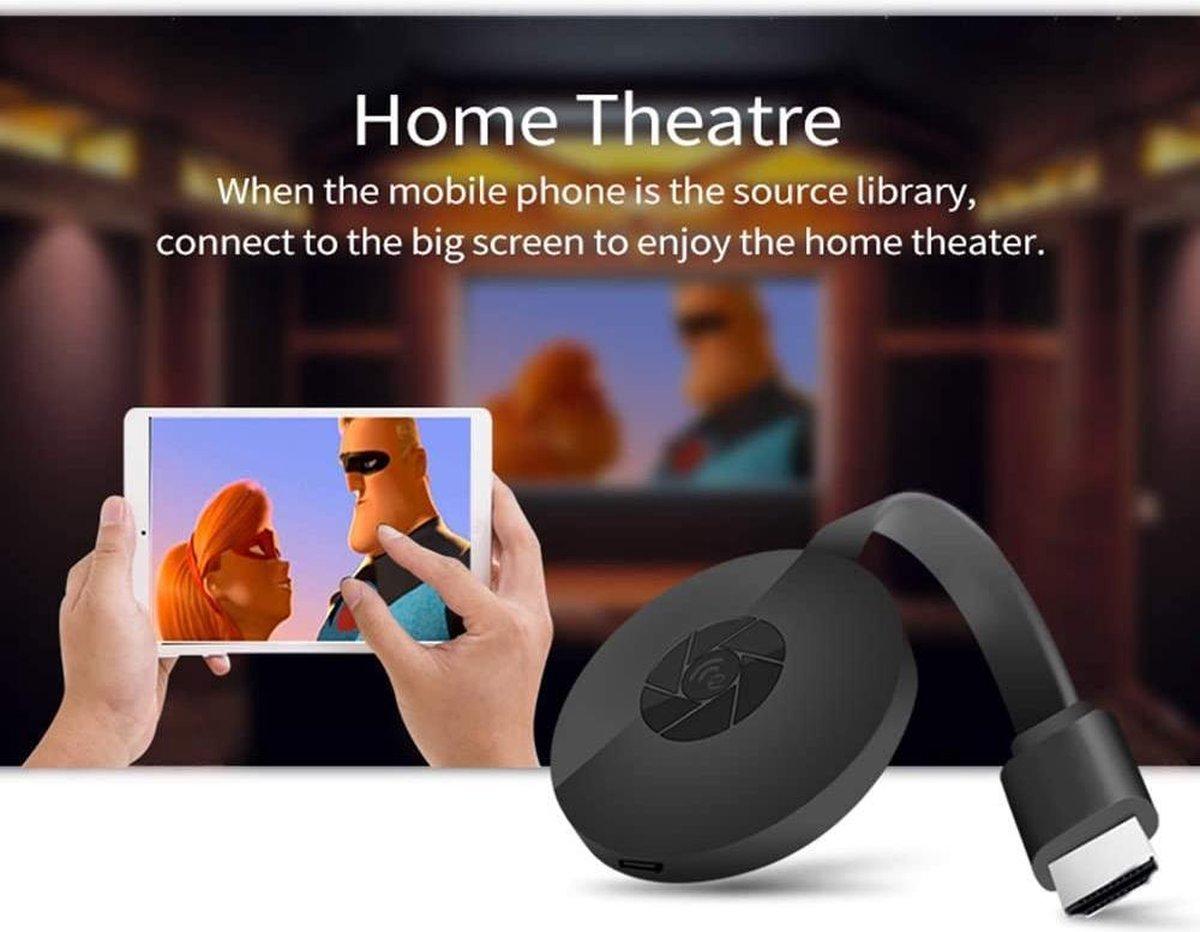 Viatel Google Chromecast 3 TV Muziek en Media Streamer Wireless Wifi Television Stick G2 Anycast 1080P ScreenCast HDMI Mira display receiver For Youtube Spotify Pandora TV-Streamingapparaat Airplay Dongle Draadlose Miracast