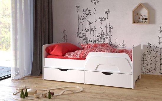 Una Peuterbed inclusief 2 lades en valbeugel 80x160 cm kinderbed - junior bed (levertijd 2 á 3 weken)