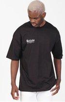 RYMN t-shirt oversized zwart believe