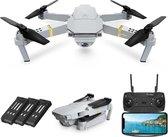 Pocket drone met Camera - Full HD Dual Camera - 30 minuten vliegtijd - Wifi FPV - Foto - Video - Quadcopter - Fly more combo - Zilver