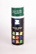 Zinga Color Spray verf -  coating - RAL  6005 Bekaert groen  400 ml satin , Toepasbaar op gegalvaniseerde en diverse andere ondergronden