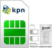 KPN Prepaid | 3in1 Simkaart | €2,50 + €7,50 |Inclusief NOOSY Simkaartadapter| Past in elke telefoon