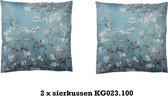 2 xSierkussen  KG023.100  bloesemtak Van Gogh style