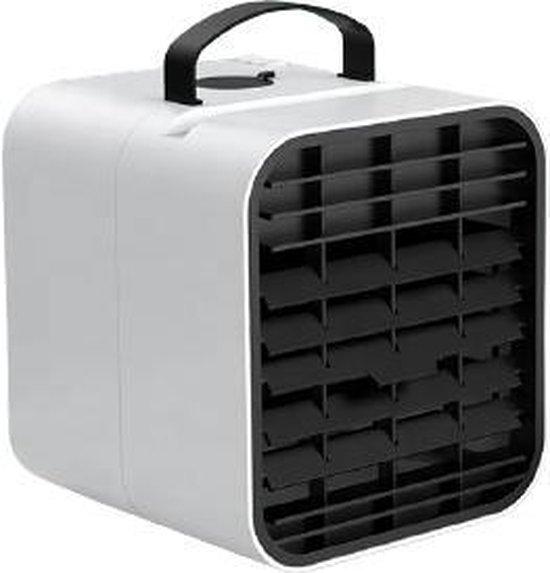 Fastic® Mini Airco | Draagbare Airco | Luchtkoeler | Airconditioning | Mini Ventilator | Airco met USB aansluiting | Aircooler met water| Tafelventilator | Verkoeling in de auto, slaapkamer, camping of kantoor.