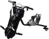 Drift trike Bliksem Zwart met led wieletjes 250W krachtige motor