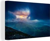 Prachtige donkere lucht boven de Ben Nevis Canvas 30x20 cm - klein - Foto print op Canvas schilderij (Wanddecoratie woonkamer / slaapkamer)