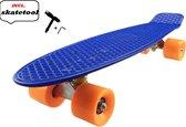 Verfez   Penny Board - Blauw/Oranje – 22 inch (56CM)   Penny skateboard   Longboard   Cruiser Skate Board   Penny Board voor Meisjes en Jongens   Skate