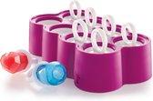Koji Zoku - IJsjesmaker - IJslollie maker - IJsvormpjes - Maak Je Eigen IJsjes - Ring Pops - 8 stuks