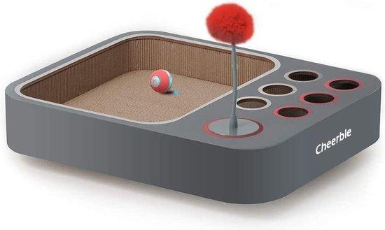 Cheerble   Board Game inclusief Mini Cheerble Bal 2.0   Interactief en Intelligentie Kattenspeelgoed