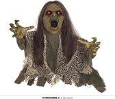 Halloween Bewegende Zombie Pop met Licht en Geluid 45 cm