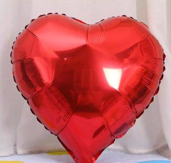 Rode Hartje - Ballon - 45 cm - Decoratie - Feest - Ballon - Hartje