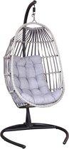 SenS-Line - Koko Relax Hangstoel - Inklapbaar - Voor Buiten/Binnen - Metaal/Polyester - L 103 x B 128 x H 210 cm