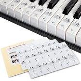 Áengus Piano/Keyboard Stickers – Transparante Verwijderbare Pianostickers voor 54, 61 en 88 toetsen